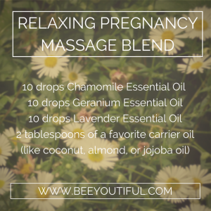 relaxing pregnancy massage blend from Beeyoutiful.com