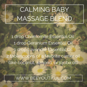 calming baby massage blend from Beeyoutiful.com