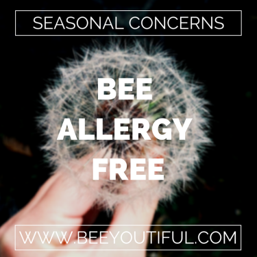 Bee Allergy Free This Spring from Beeyoutiful.com