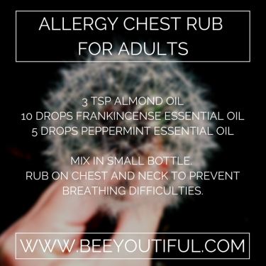 Allergy Chest Rub for Adults from Beeyoutiful.com