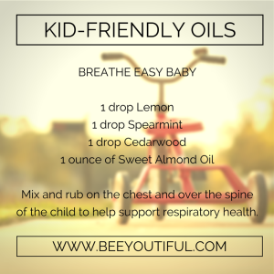 Breathe Easy Baby Kid-Friendly Essential Oils from Beeyoutiful.com