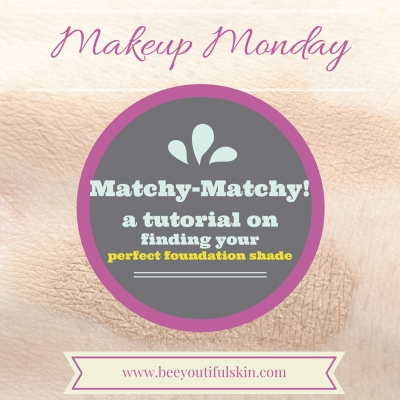 Makeup Monday: Matchy-Matchy (How to Find Your Perfect Foundation Shade)