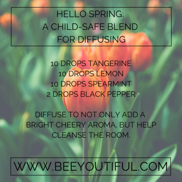 Hello Spring Child-Safe Diffuser Blend from Beeyoutiful.com