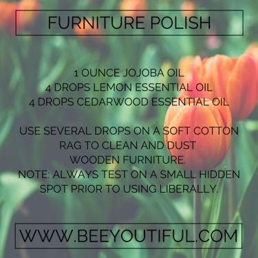 Furniture Polish Recipe from Beeyoutiful.com