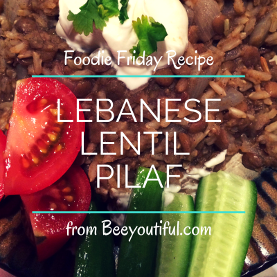 Lebanese Lentil Pilaf from Beeyoutiful.com